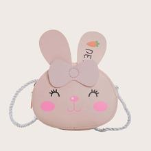 Bolsa bandolera de niños con diseño de conejo