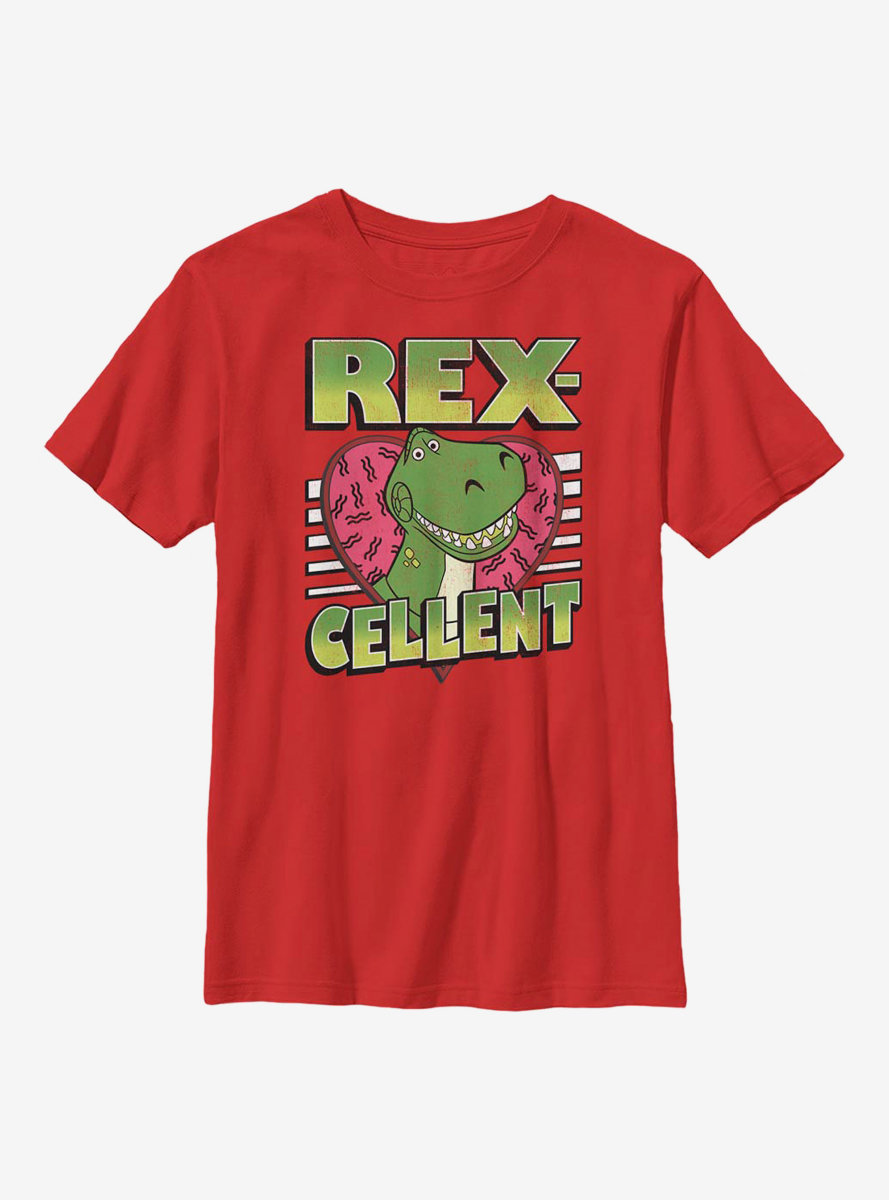 Disney Pixar Toy Story Rexcellent Heart Youth T-Shirt