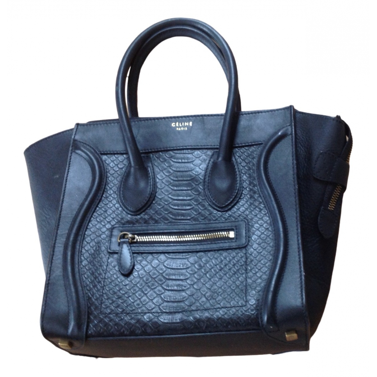 Celine - Sac a main Nano Luggage pour femme en cuir - noir