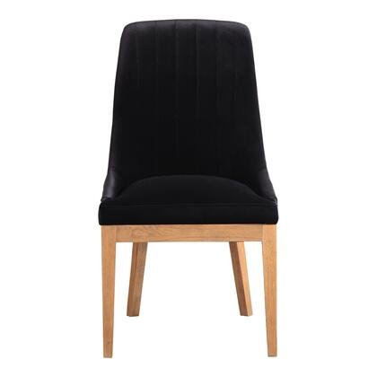 Mia Collection ME-1054-02 Dining Chair with Solid Birch Frame in Black