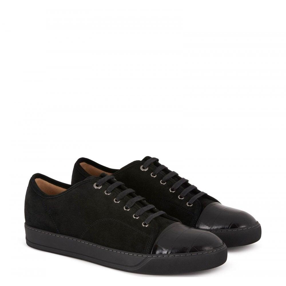 Lanvin Dbbi Suede Calfskin Sneaker Colour: BLACK, Size: 7