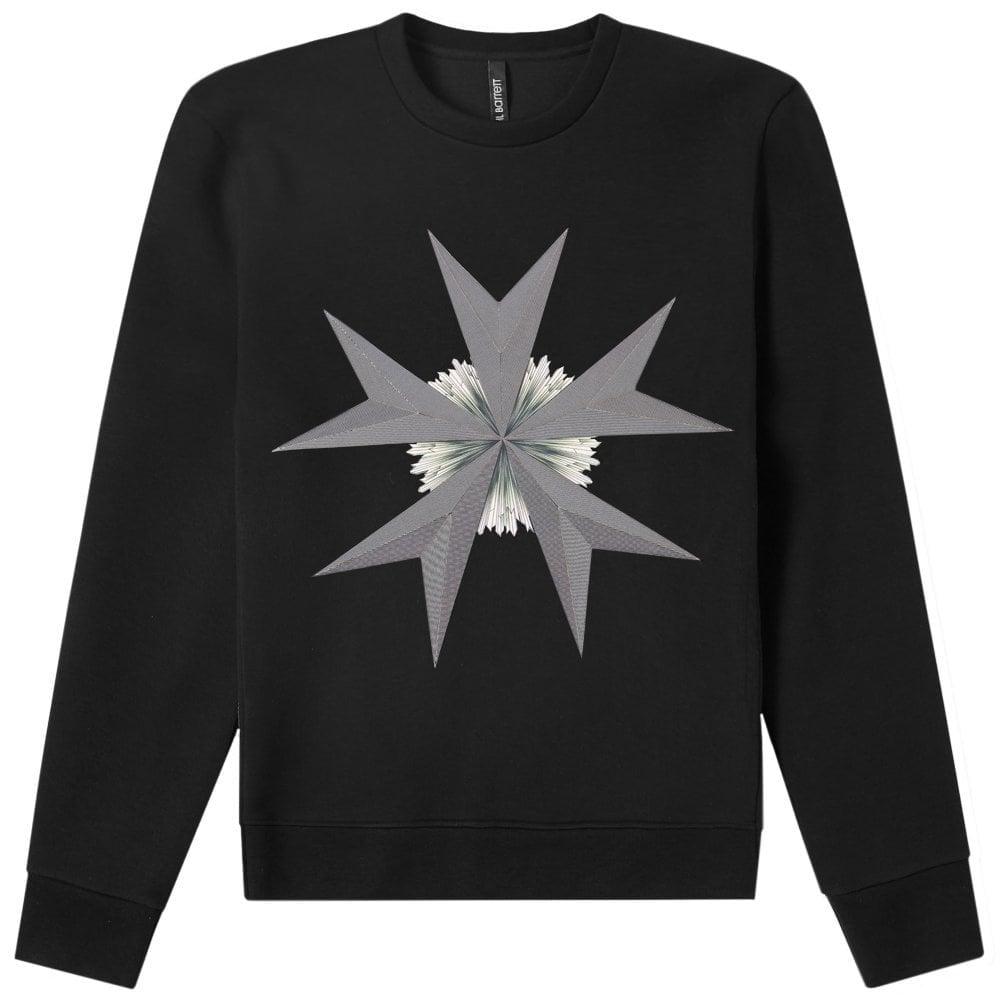 Neil Barrett Star Print Sweatshirt Black Colour: BLACK, Size: SMALL