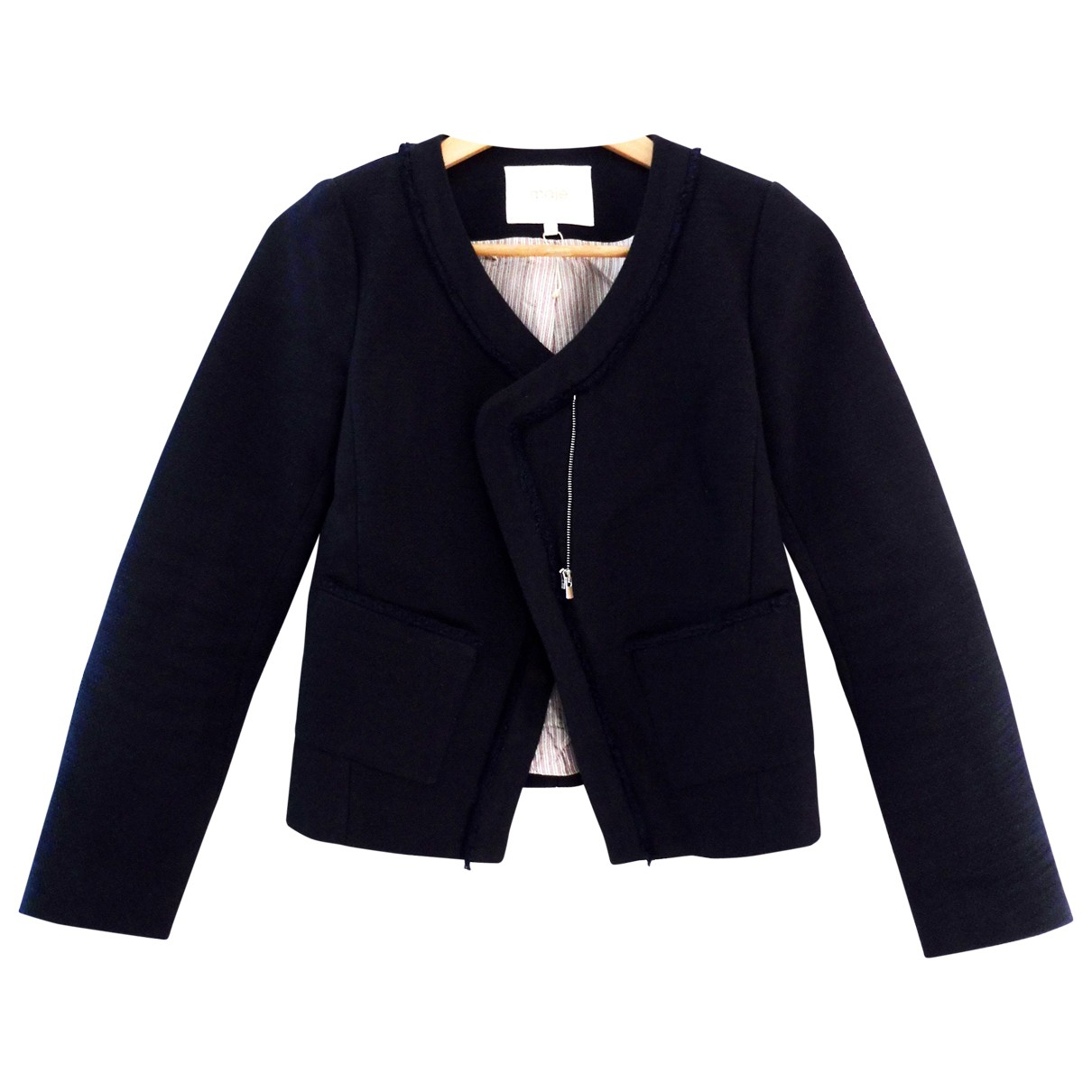 Maje \N Navy Cotton jacket for Women 36 FR
