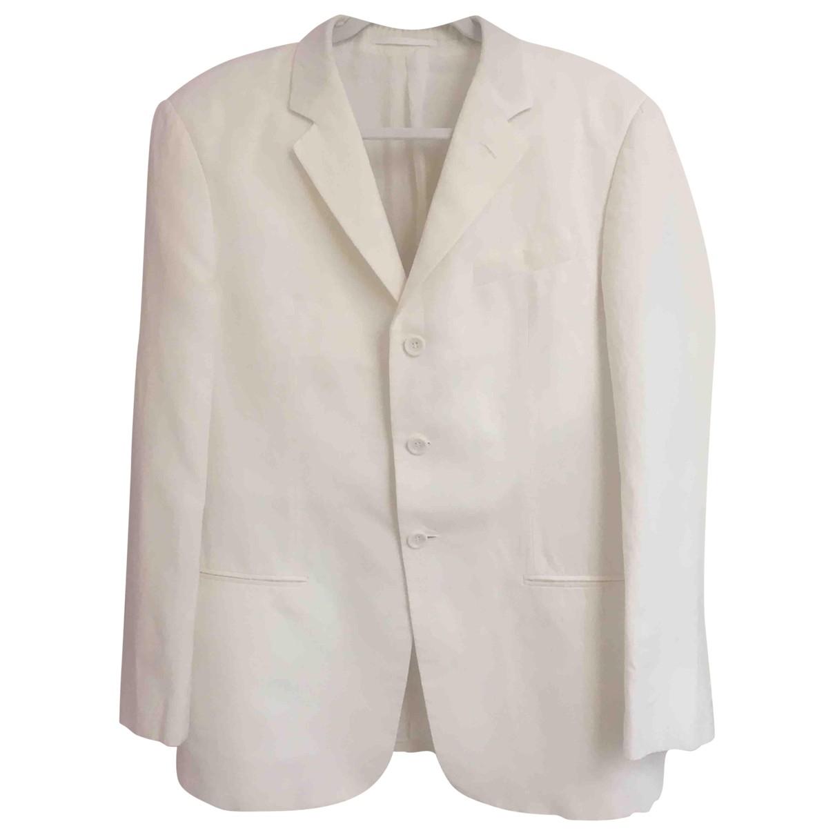Armani Collezioni - Costumes   pour homme en lin - blanc