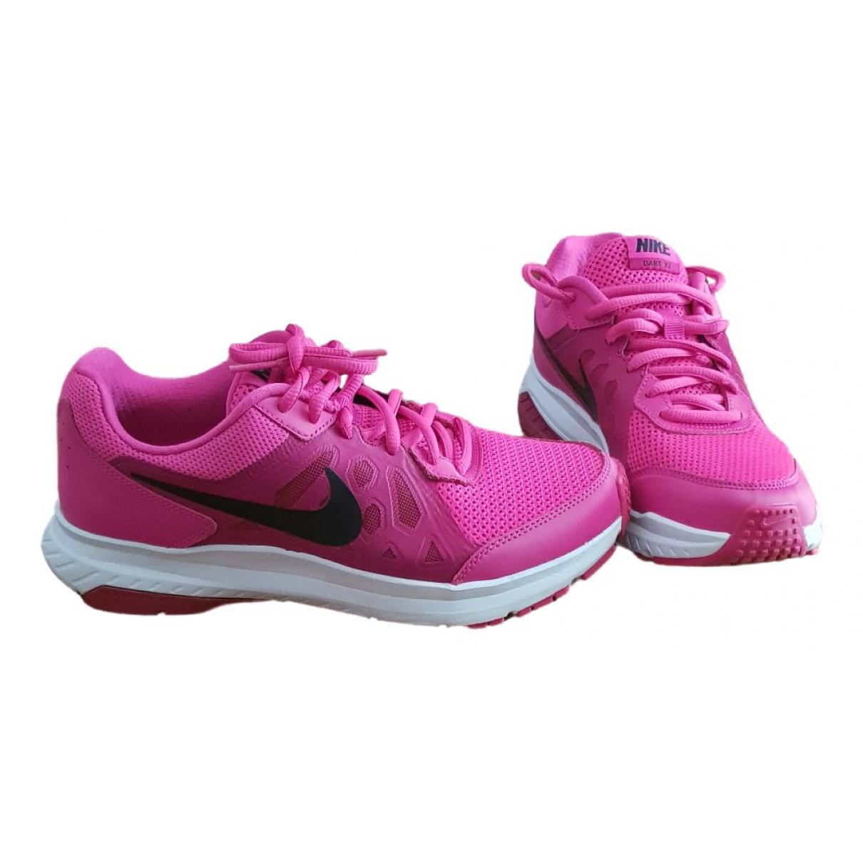 Nike \N Sneakers in  Rosa Leder