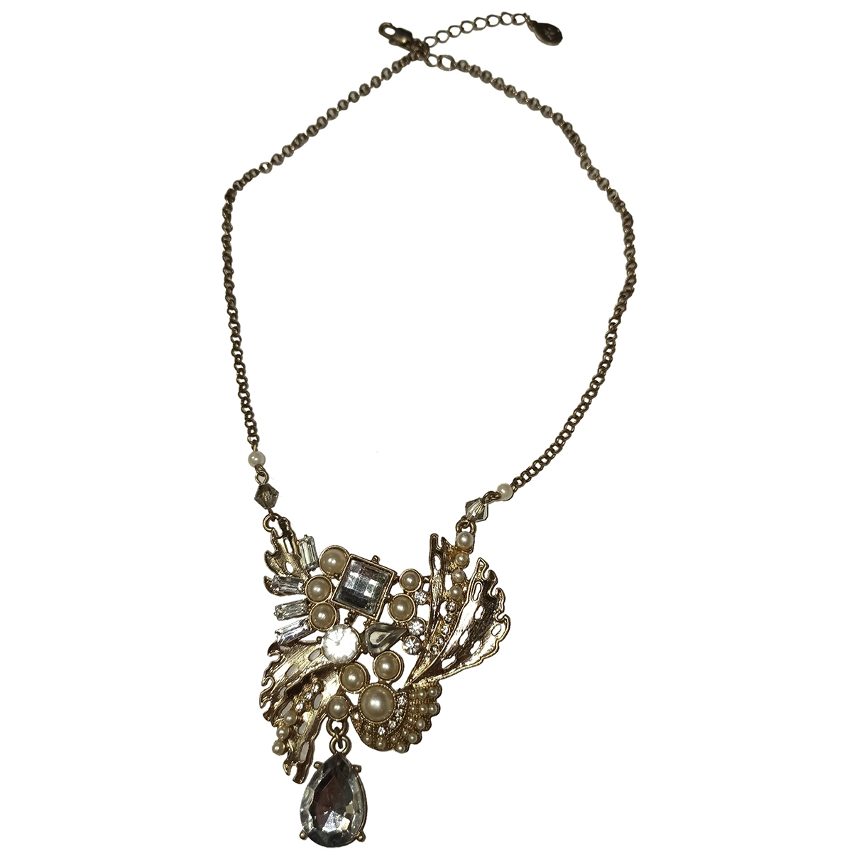 Non Signé / Unsigned \N Beige Metal necklace for Women \N