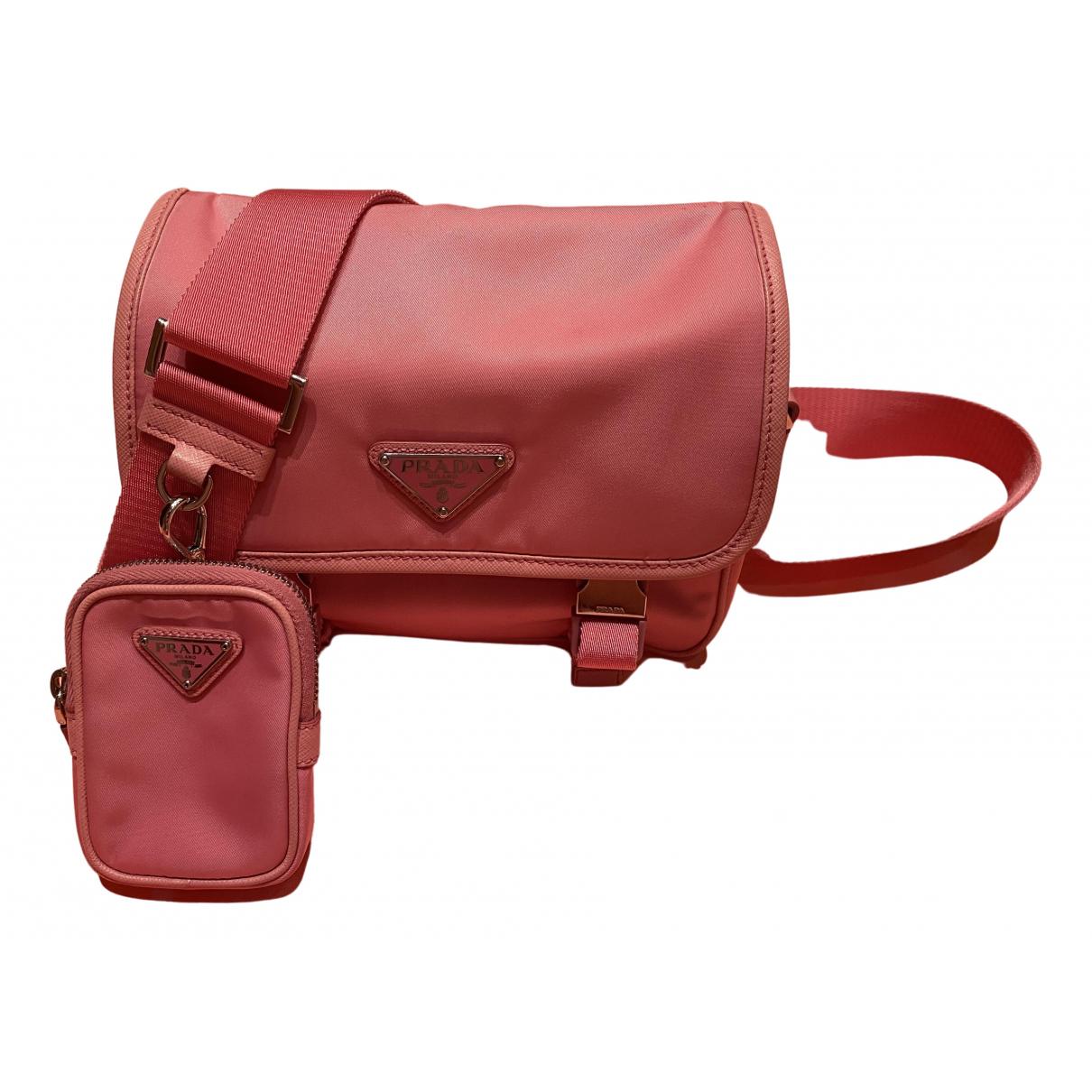 Prada Re-edition Handtasche in  Rosa Leinen