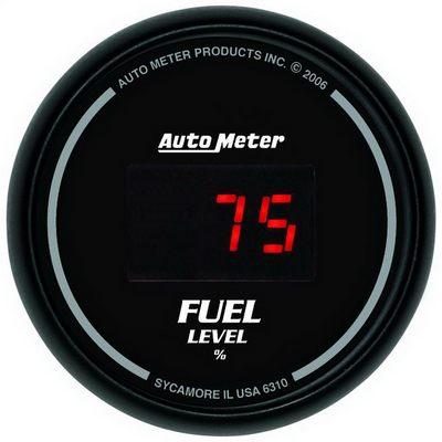 Auto Meter Sport-Comp Digital Programmable Fuel Level Gauge - 6310