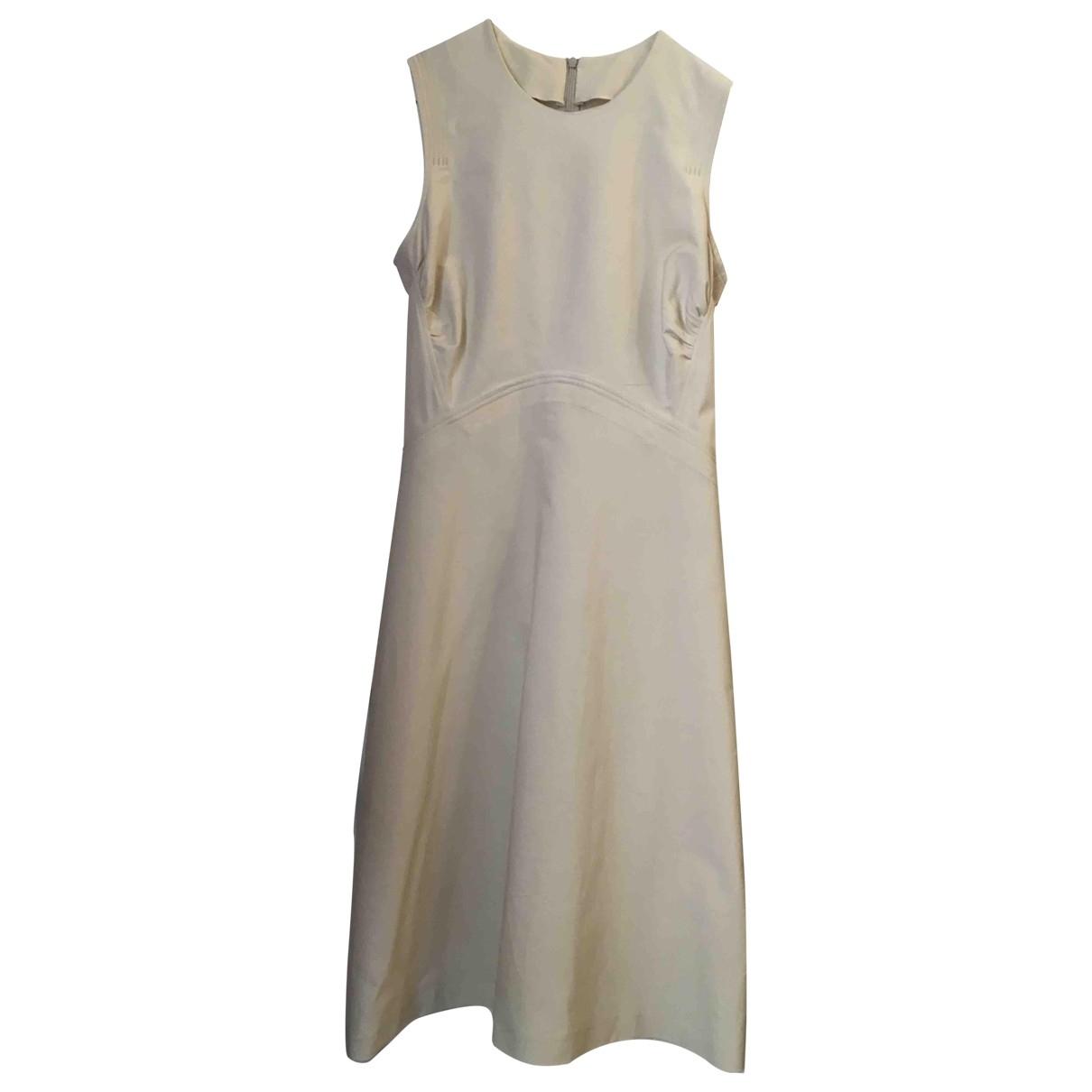 Non Signé / Unsigned \N Ecru Cotton - elasthane dress for Women 42 IT