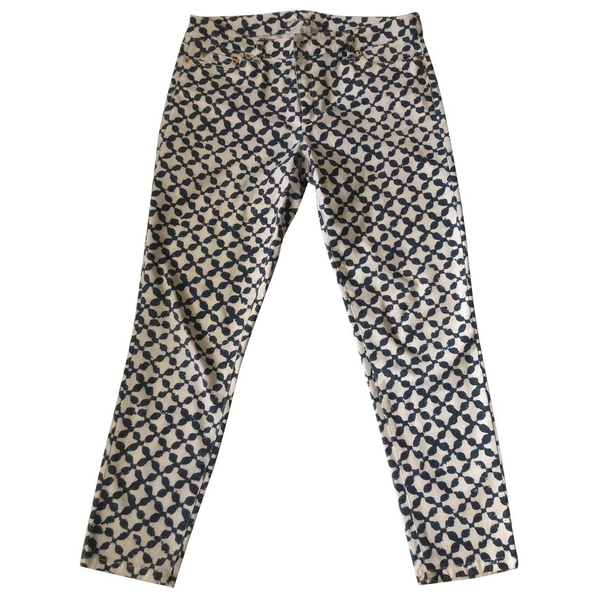 Michael Kors \N Blue Cotton Trousers for Women 8 US
