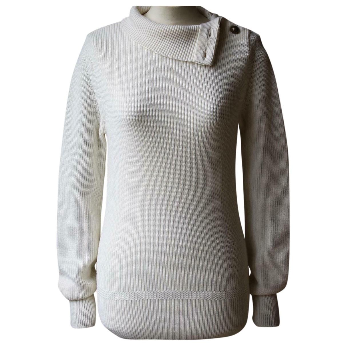 Chloe - Pull   pour femme en laine - ecru