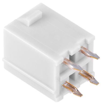 Molex , Mini-Fit Jr Male Connector Housing, 4.2mm Pitch, 4 Way, 2 Row (5)