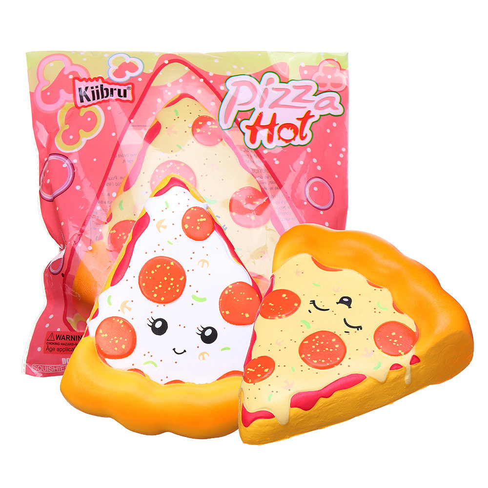 Smiley Face Pizza Squishy Soft Toy With Original Packing