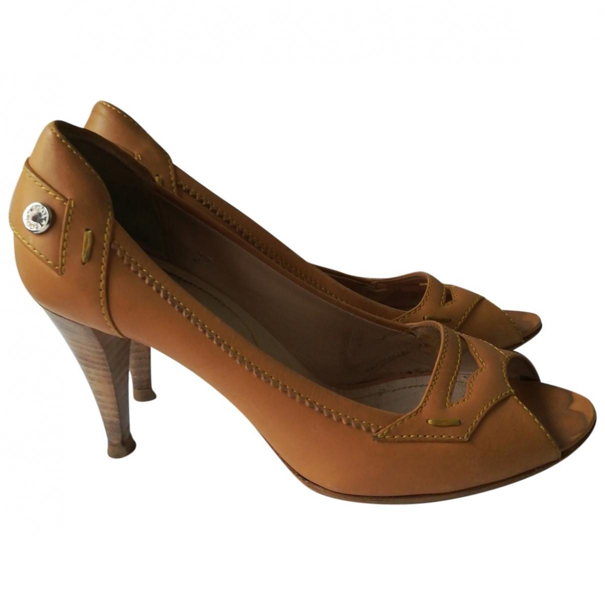 Tods - Sandales   pour femme en cuir - beige