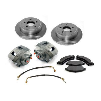 Omix-ADA Front Disc Brake Kit (Silver) - 16762.01