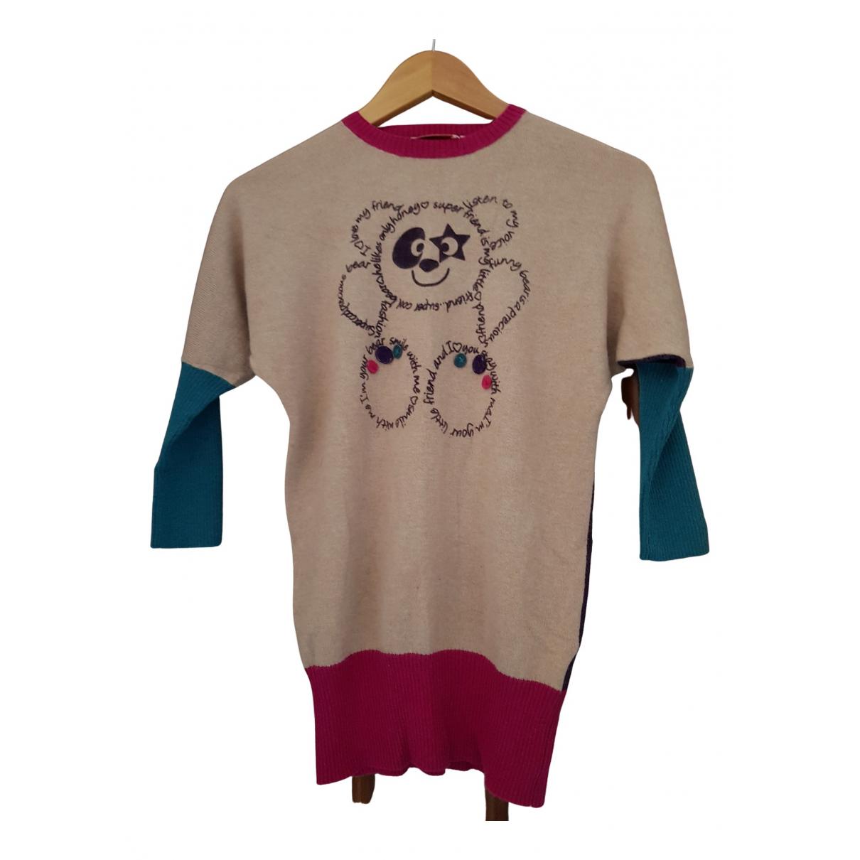 Brums \N Kleid in  Beige Baumwolle