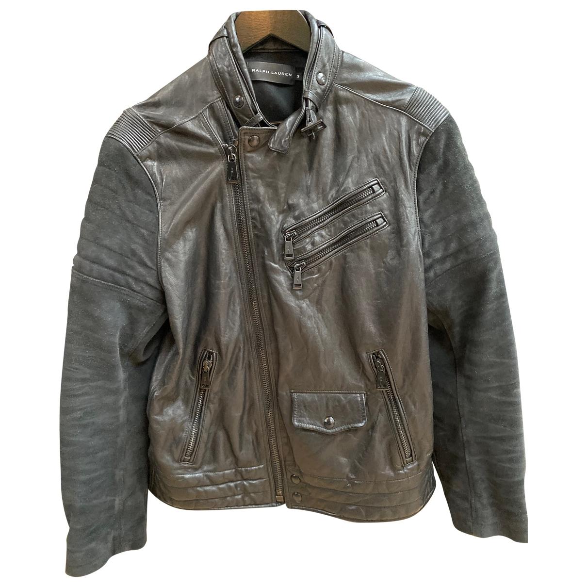 Ralph Lauren \N Jacke in  Schwarz Leder