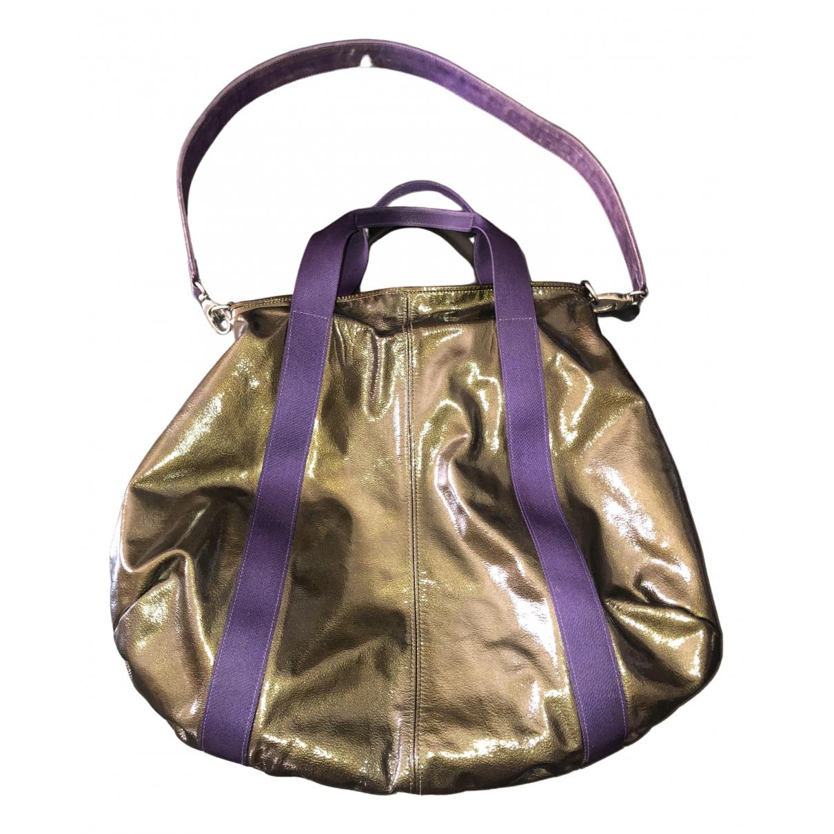Marni \N Metallic Patent leather handbag for Women \N