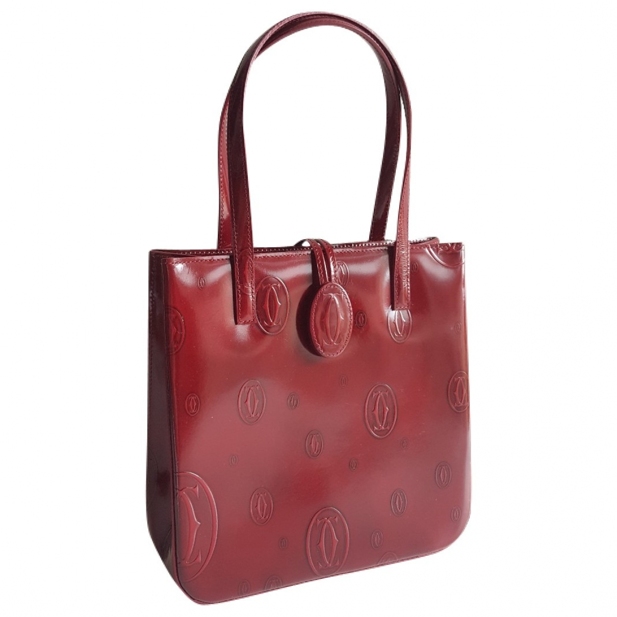 Cartier \N Burgundy Patent leather handbag for Women \N