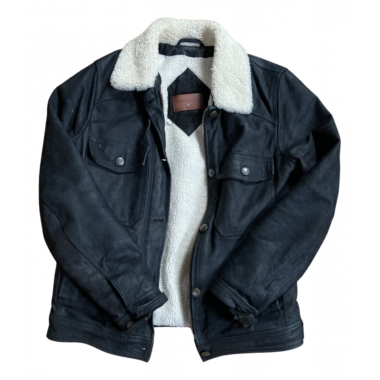 Chevignon N Black Leather jacket  for Men S International