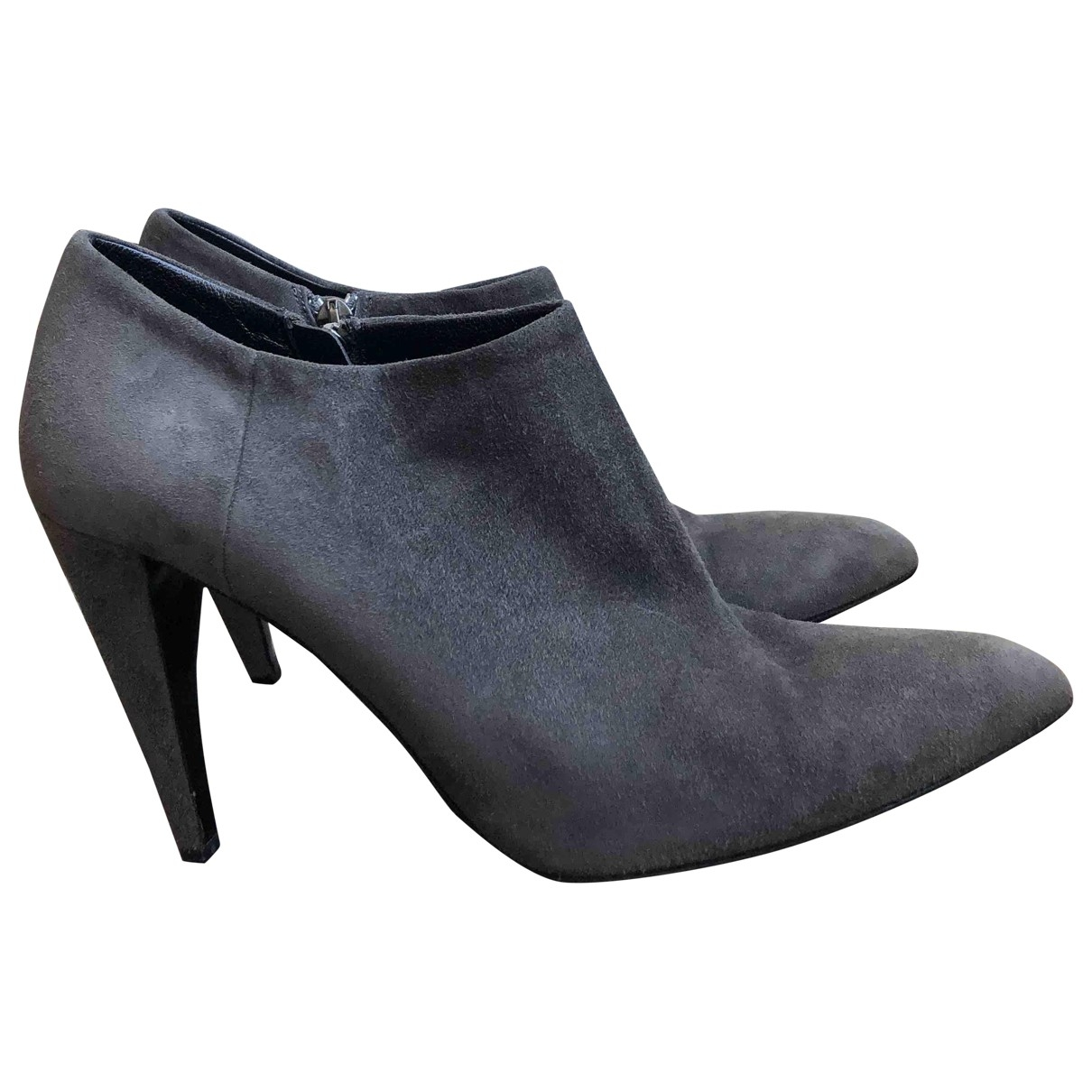 Prada \N Grey Suede Ankle boots for Women 37 IT