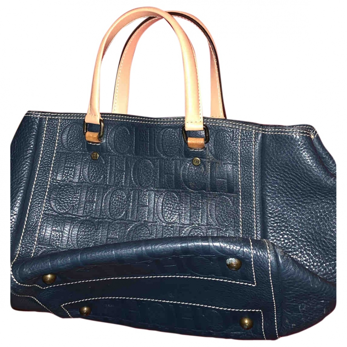 Carolina Herrera \N Blue Leather handbag for Women \N