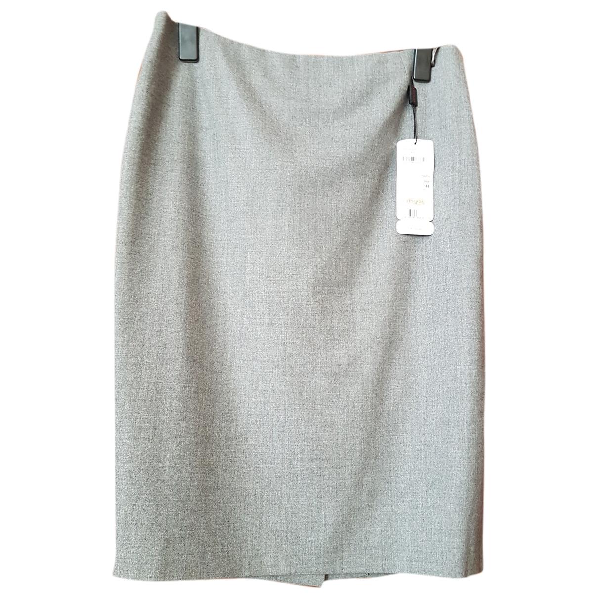 Escada - Jupe   pour femme en laine - gris