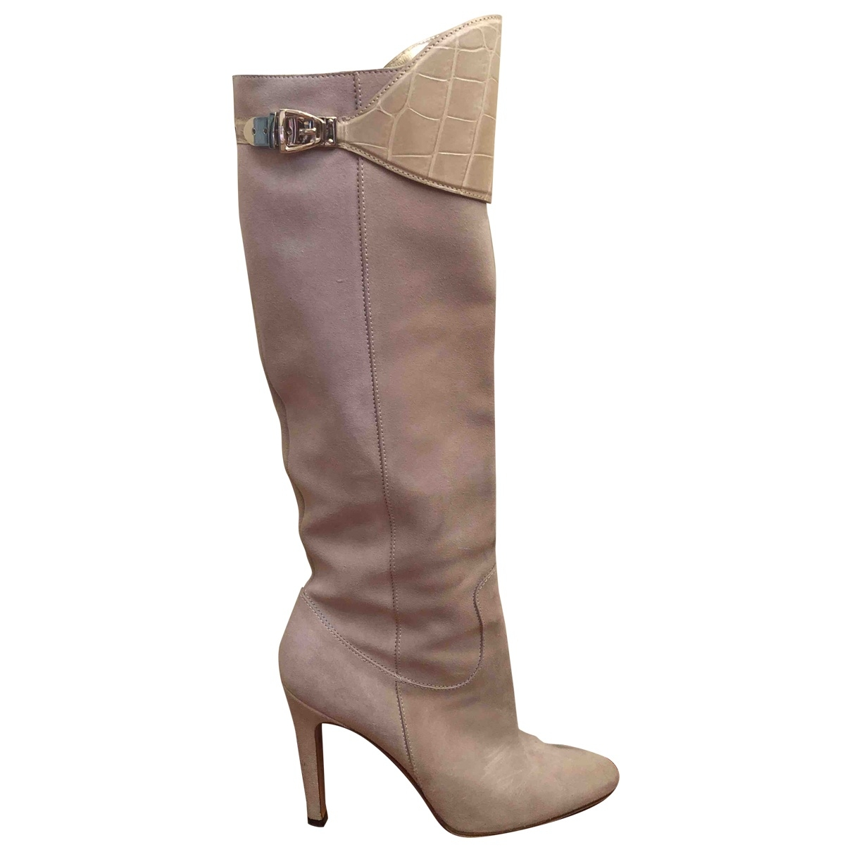 Gucci \N Beige Suede Boots for Women 40 EU