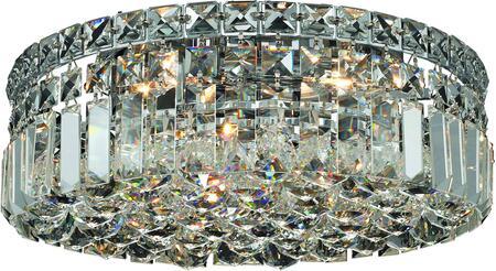 V2030F14C/EC 2030 Maxime Collection Flush Mount D:14In H:5.5In Lt:4 Chrome Finish (Elegant Cut