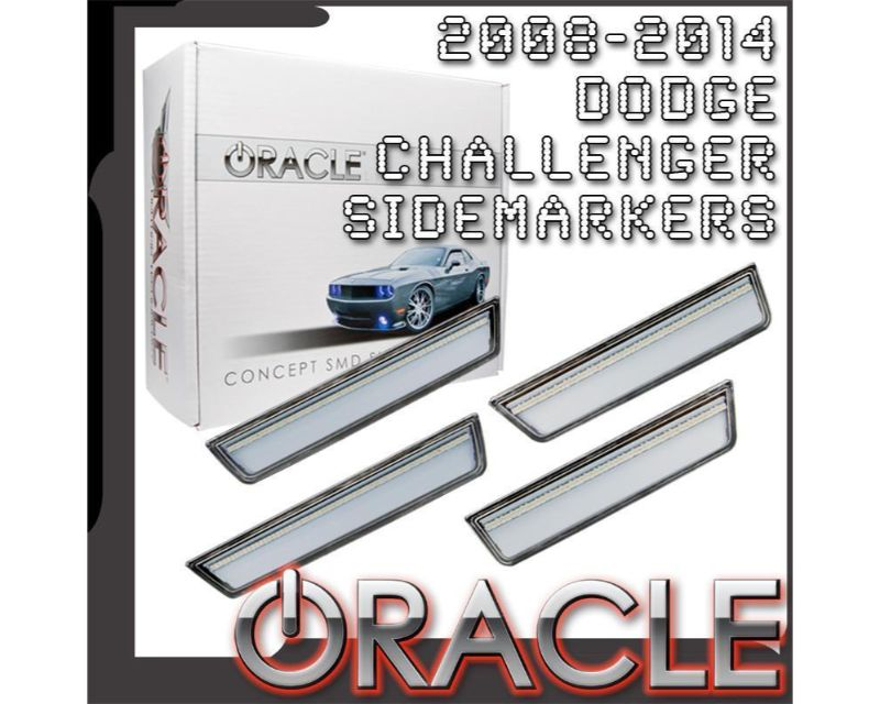 Oracle Lighting 9800-PBS-T Concept Sidemarker Set Deep Water Blue Pearl - TINTED Dodge Challenger 2008-2014