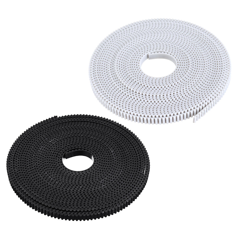 White/Black 5Meters GT2-6mm PU Open Timing Belt For Timing Pulley Reprap 3D Printer Parts
