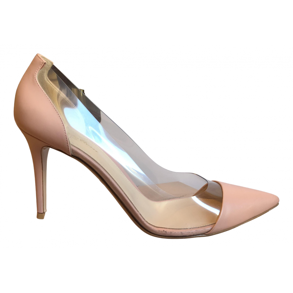 Gianvito Rossi - Escarpins Plexi pour femme en cuir - rose