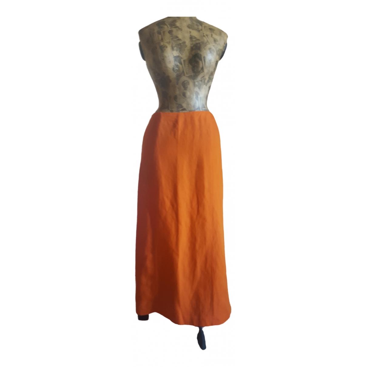 Kenzo \N Orange Linen skirt for Women 40 FR