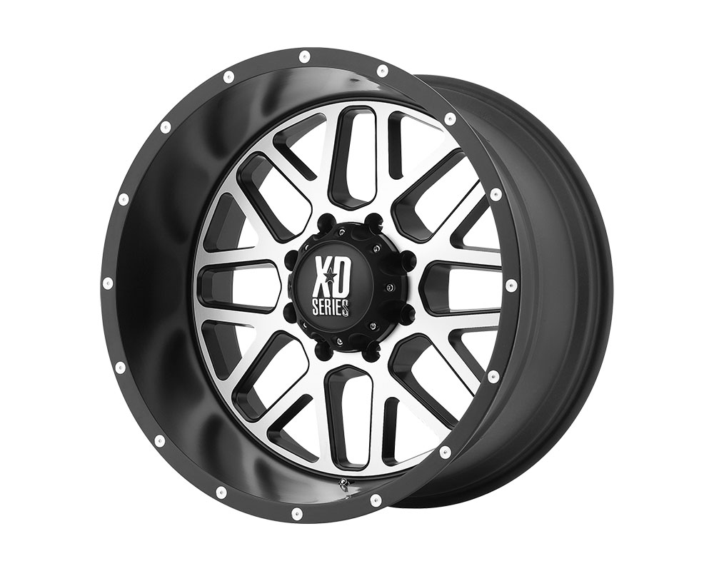 XD Series XD82077536545 XD820 Grenade Wheel 17x7.5 5x5x130 +45mm Satin Black Machined Face