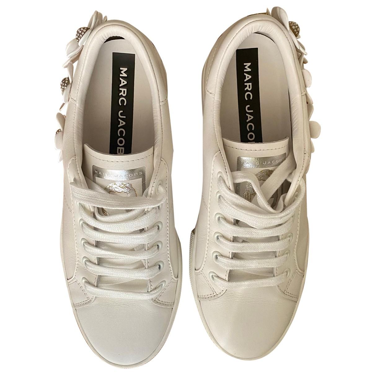 Marc Jacobs - Baskets   pour femme en cuir - blanc