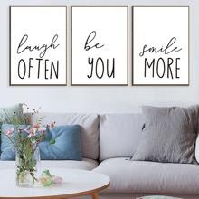 Slogan Print Wall Art 3pcs