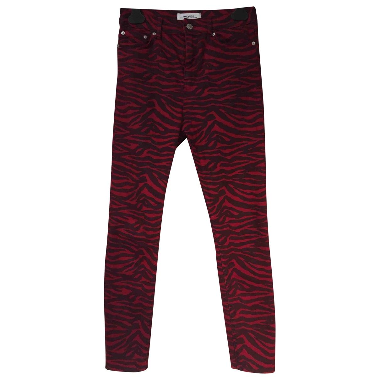 Zara \N Cotton Trousers for Women 38 FR