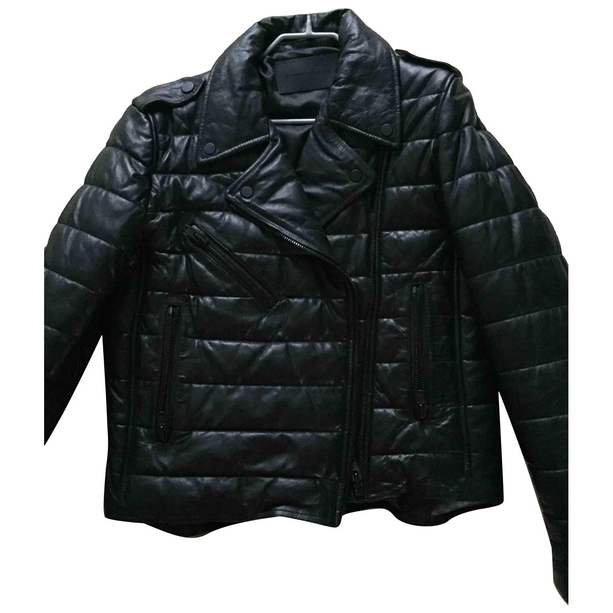 Alexander Wang Pour H&m - Blouson   pour femme en cuir - noir