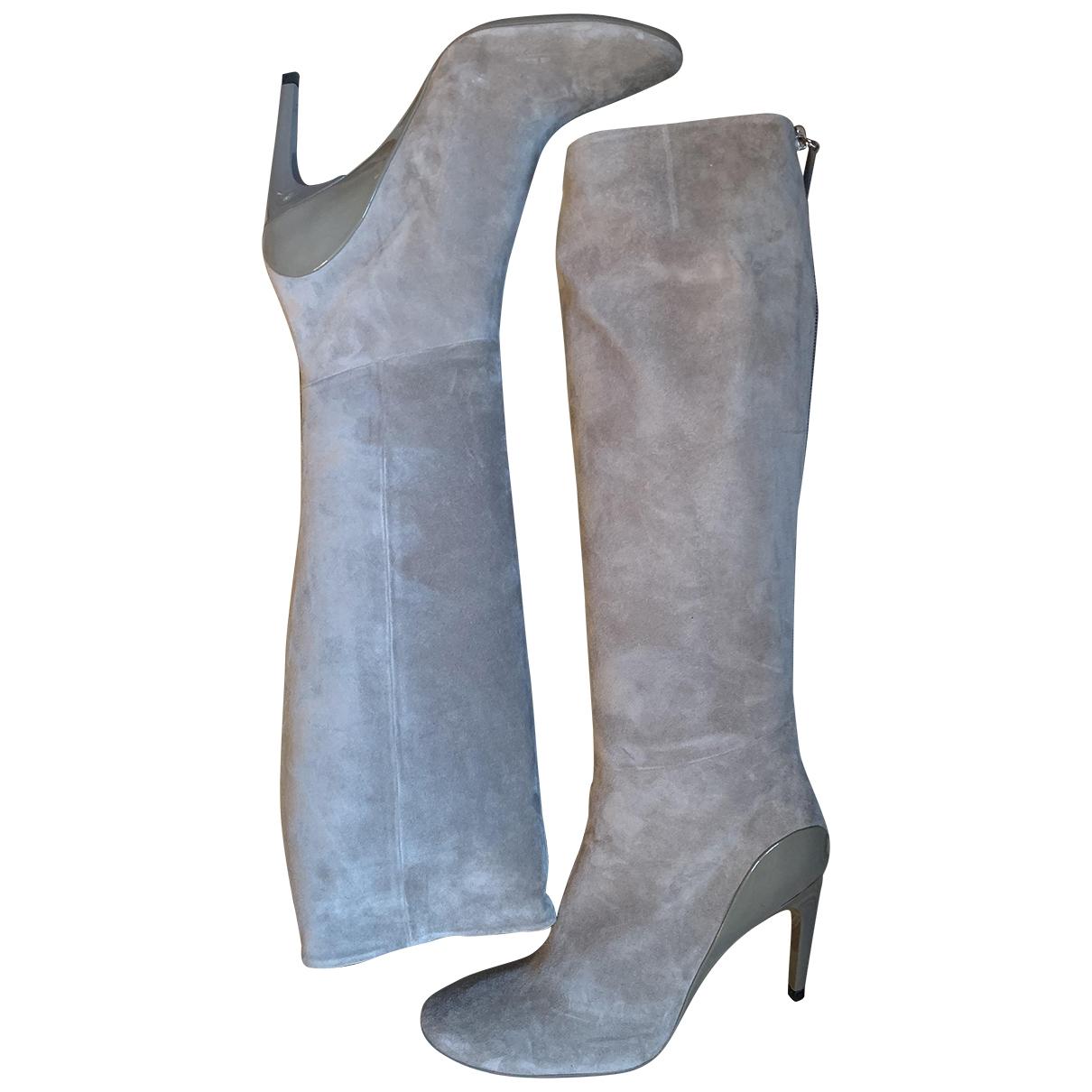 Roger Vivier - Bottes   pour femme en suede - gris