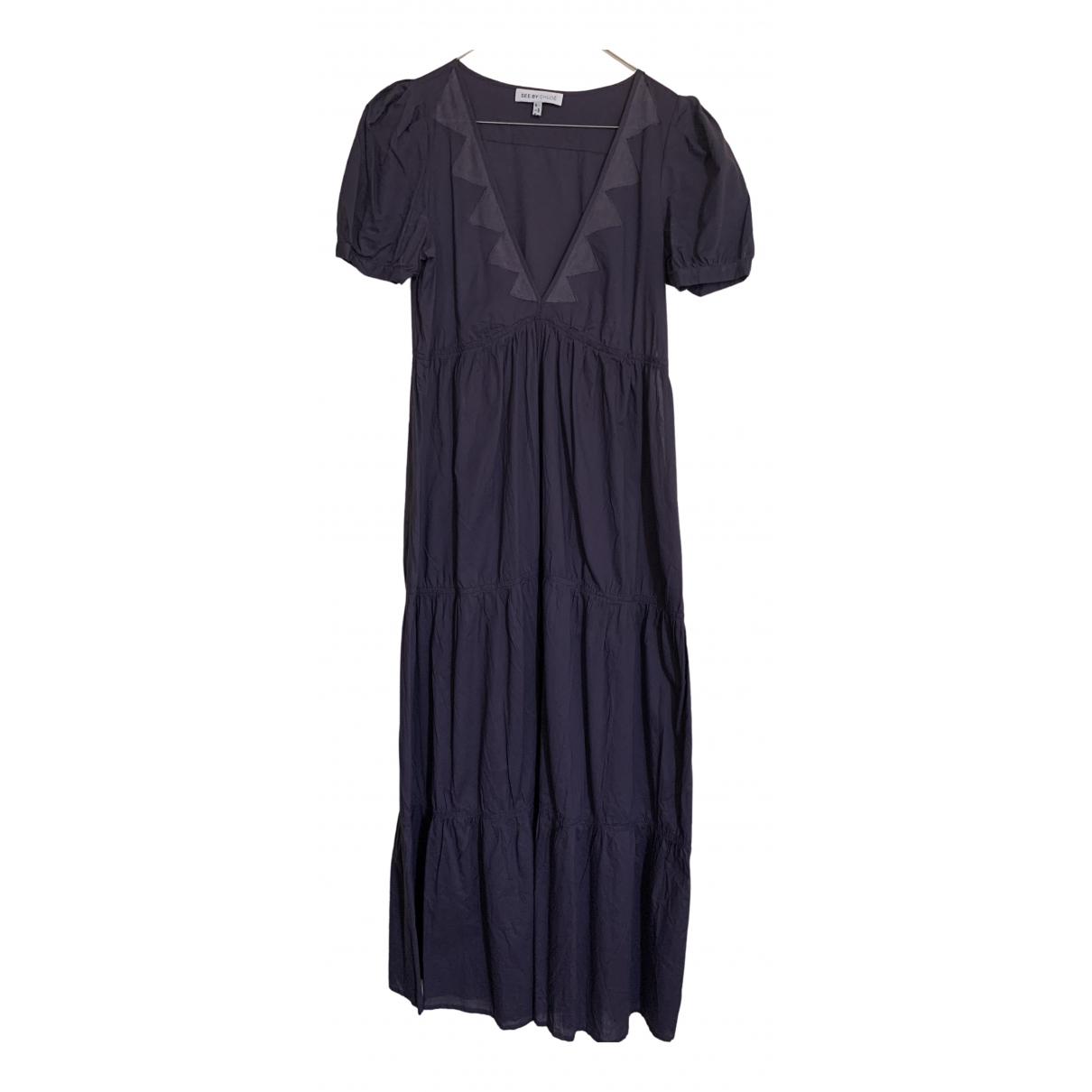 See By Chloe - Robe   pour femme en coton - violet