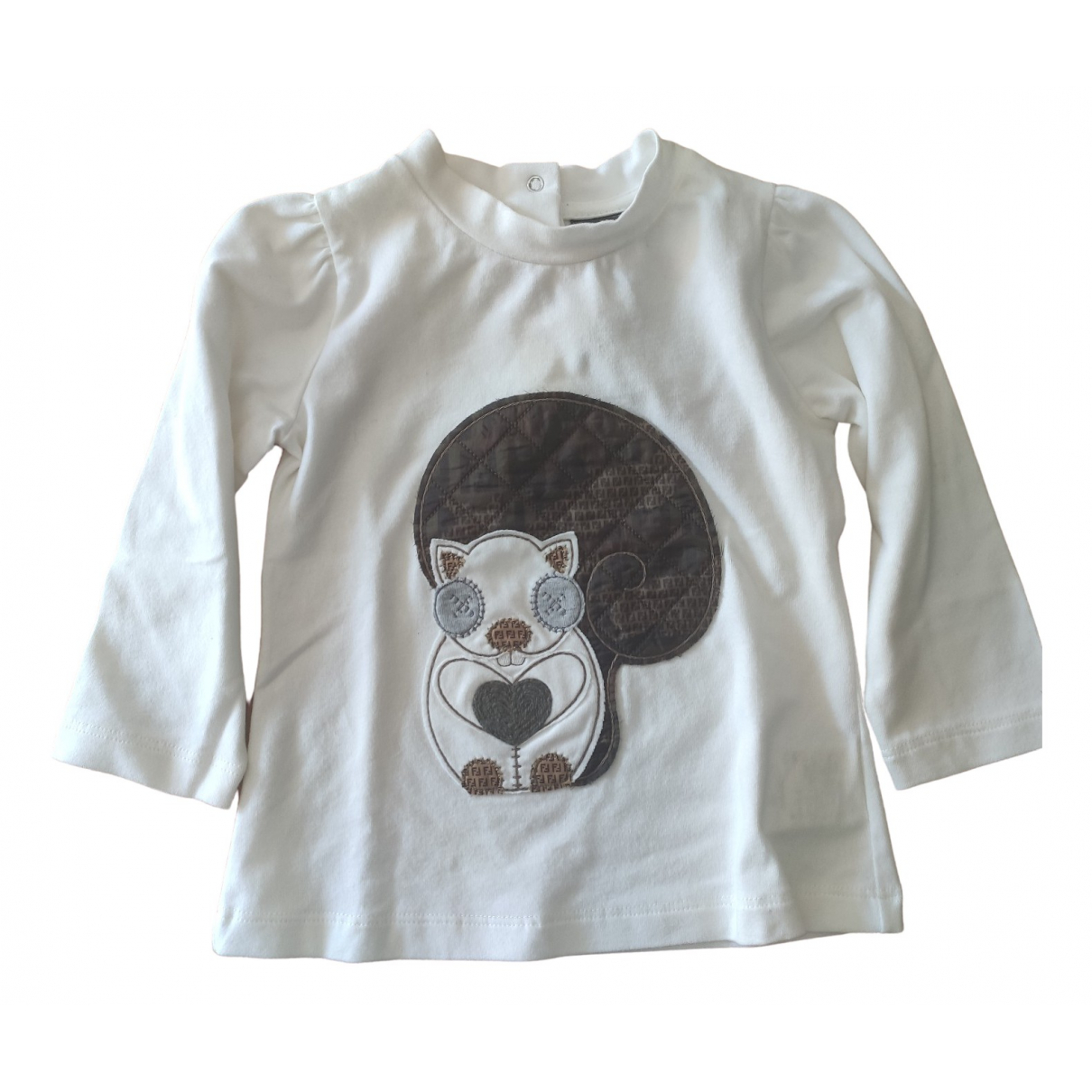 Fendi \N White Cotton  top for Kids 9 months - up to 71cm FR