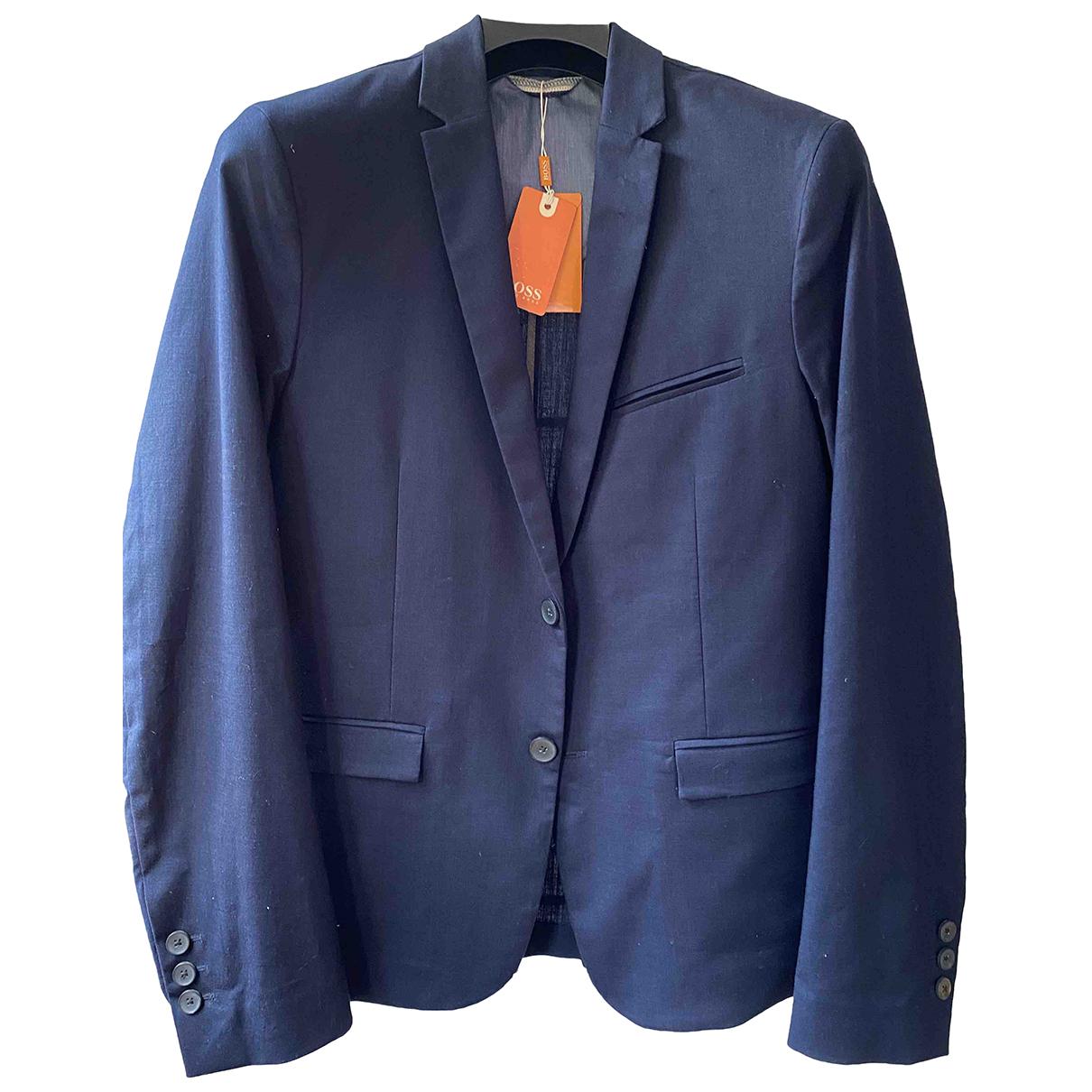 Boss Orange \N Navy Cotton jacket  for Men 38 UK - US