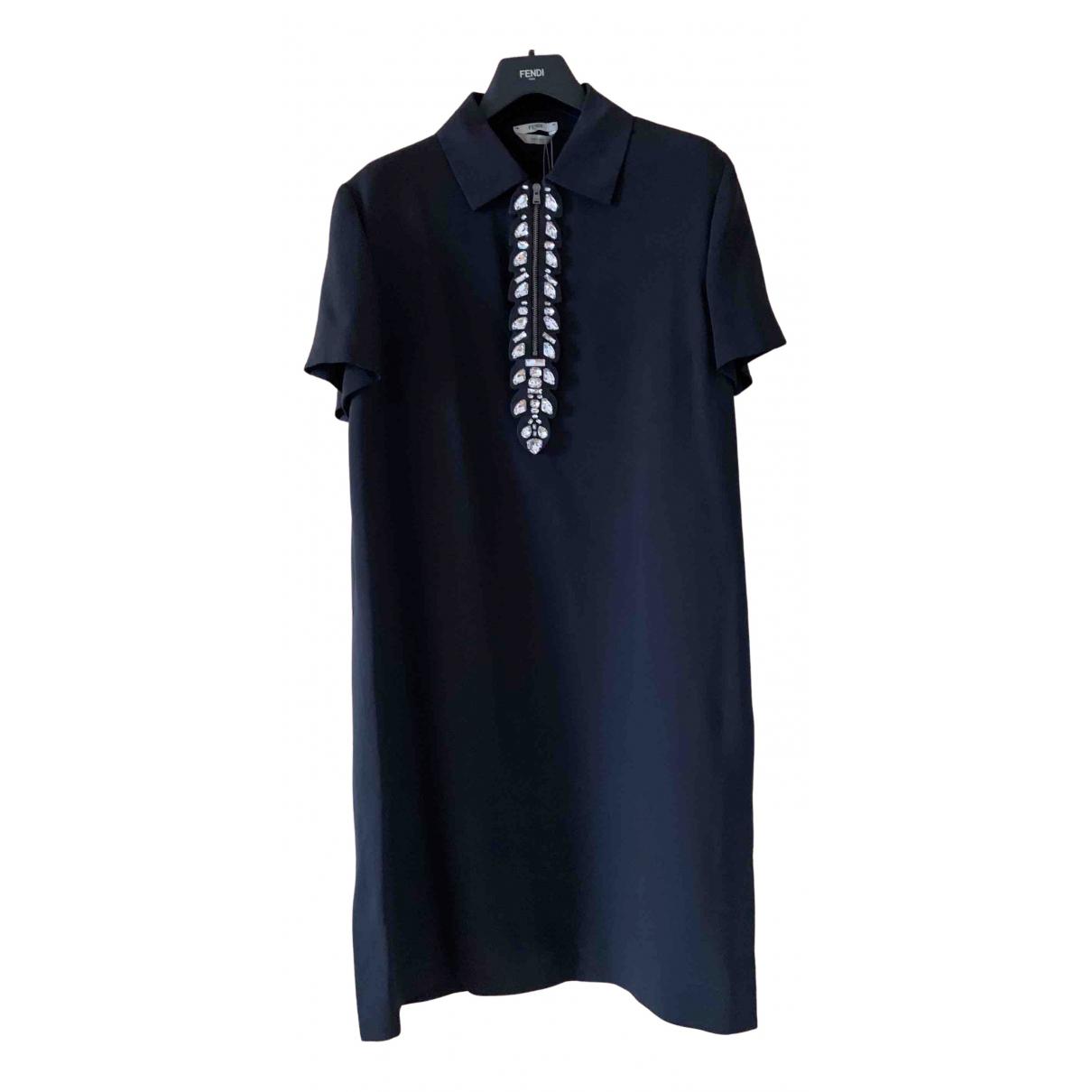 Fendi \N Kleid in  Schwarz Seide