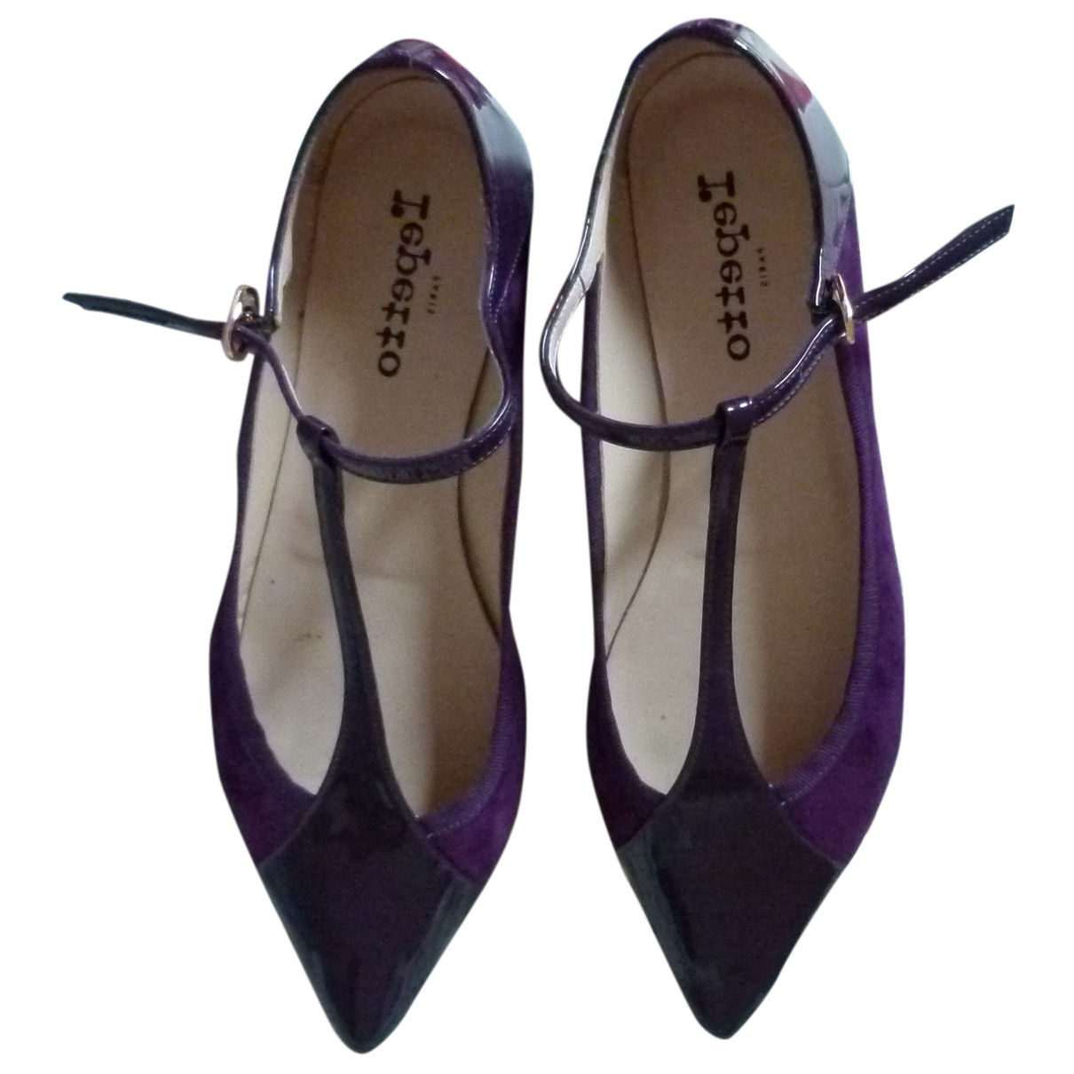 Repetto \N Schnuerschuhe in  Lila Lackleder