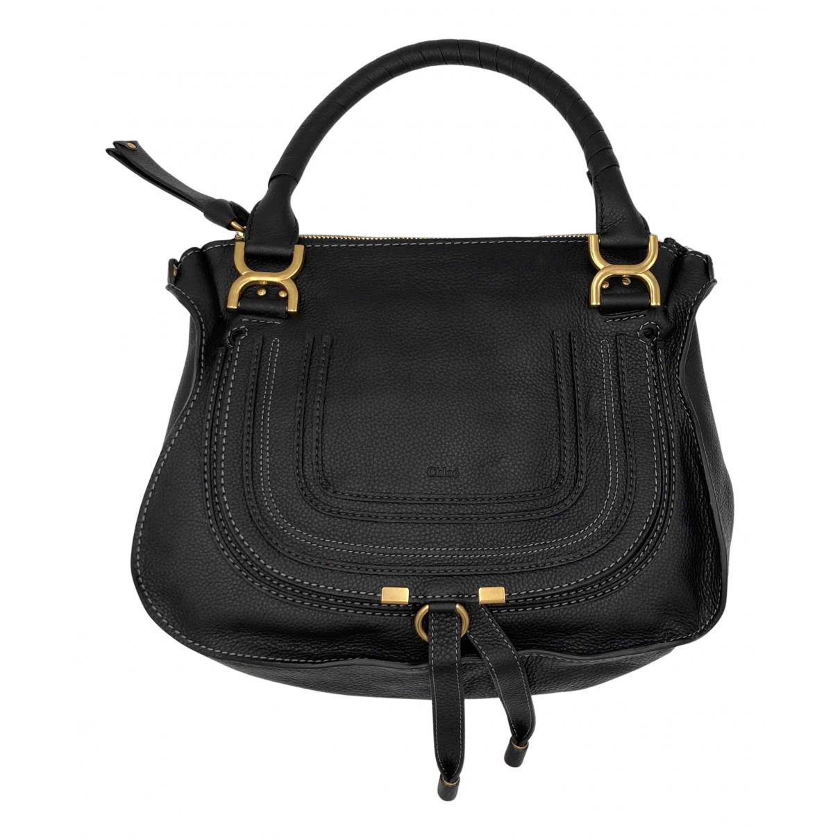Chloe Marcie Handtasche in  Schwarz Leder
