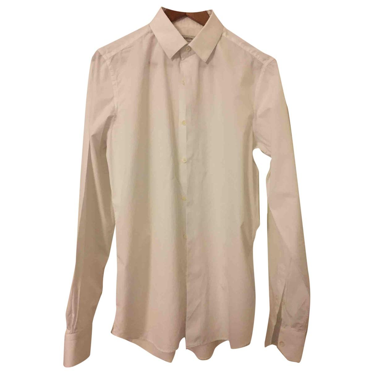 Valentino Garavani - Chemises   pour homme en coton - blanc