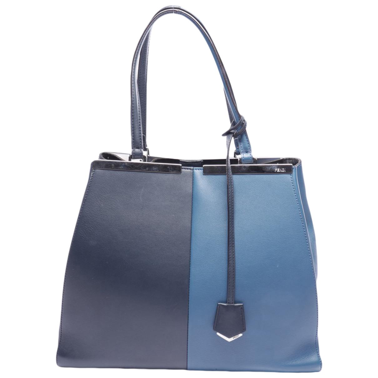 Fendi \N Handtasche in  Blau Leder