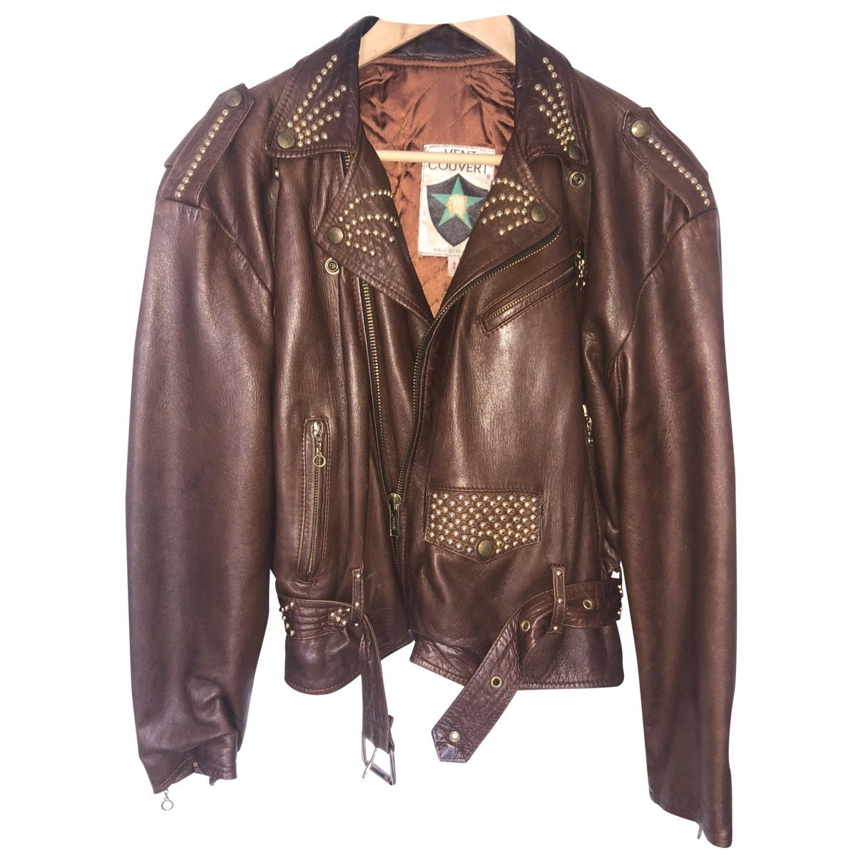 Ventcouvert \N Brown Leather Leather jacket for Women 2 0-5