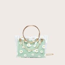 Bolsa cartera de niñas con aro con bolsillo