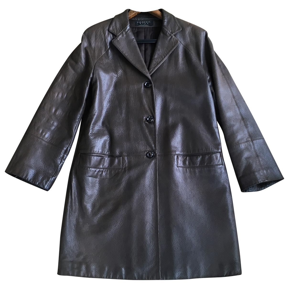 Escada \N Brown Leather coat for Women 40 FR